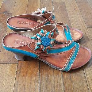 Spring step Lartiste leather sandals pumps, 8